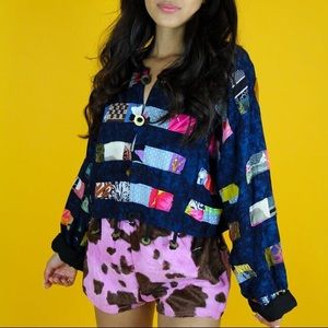 Tops - Patchwork blouse